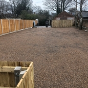 Gravel Geogrids Installed