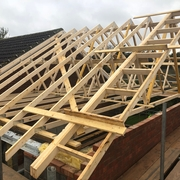 New Roof Trusses Installed